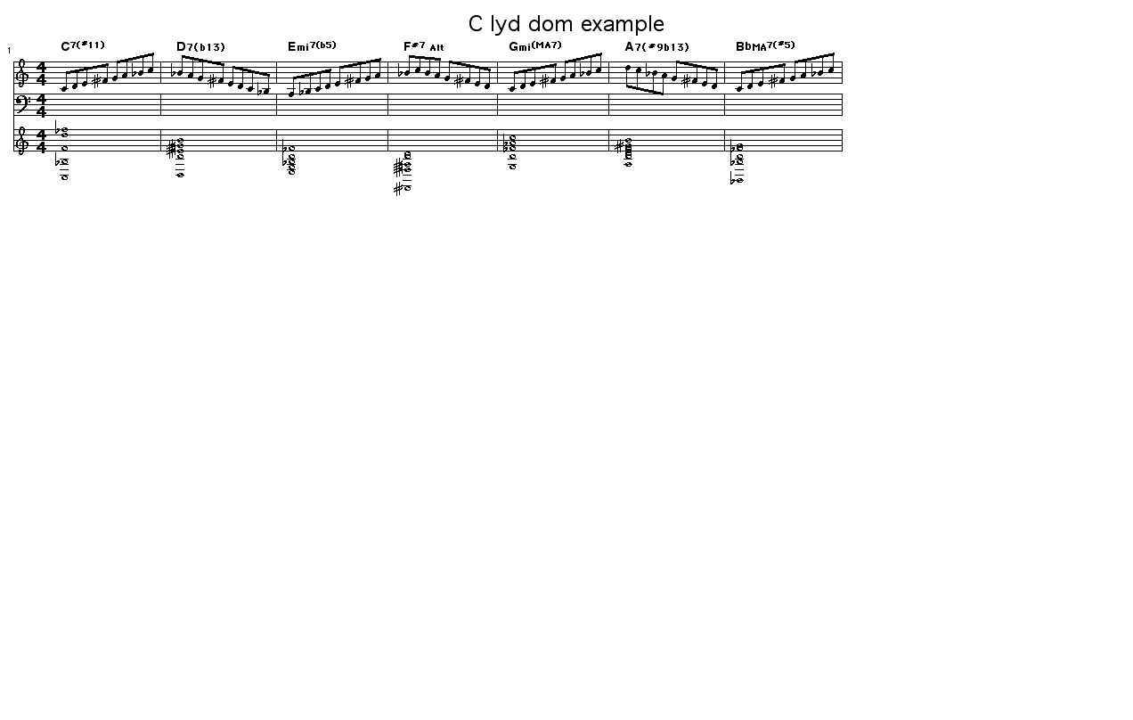 Melody on the chords of C Lydian Dominant: